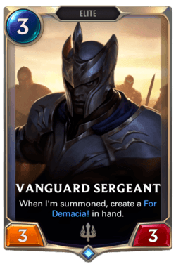 Vanguard Sergeant Legends of Runeterra