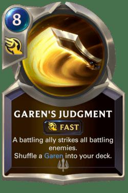 Garen's Judgment Legends of Runeterra