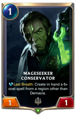 Mageseeker Conservator Legends of Runeterra