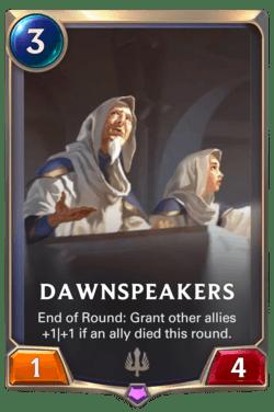 Dawnspeakers Legends of Runeterra