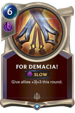 For Demacia! Legends of Runeterra