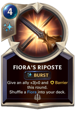 Fiora's Riposte Legends of Runeterra