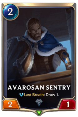 Avarosan Sentry Legends of Runeterra