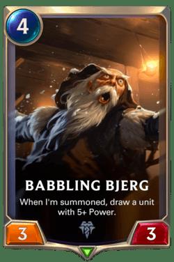 Babbling Bjerg Legends of Runeterra