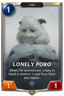 Lonely Poro Legends of Runeterra