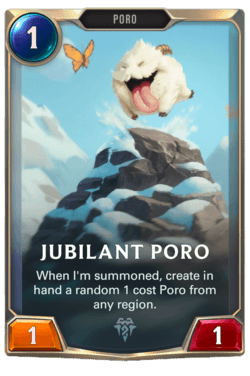 Jubilant Poro Legends of Runeterra