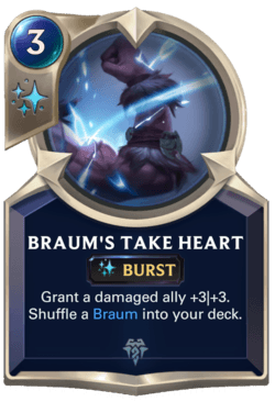 Braum's Take Heart Legends of Runeterra