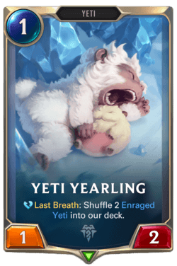 Yeti Yearling Legends of Runeterra