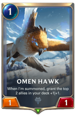 Omen Hawk Legends of Runeterra