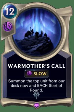 Warmother's Call Legends of Runeterra