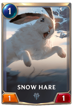 Snow Hare Legends of Runeterra