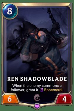 Ren Shadowblade Legends of Runeterra
