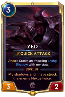 Zed Legends of Runeterra