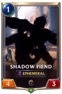 Shadow Fiend Legends of Runeterra