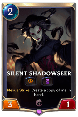 Silent Shadowseer Legends of Runeterra
