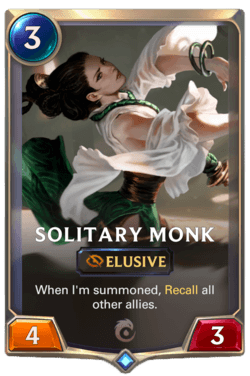 Solitary Monk Legends of Runeterra