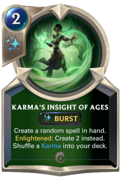 Karma's Insight of Ages Legends of Runeterra