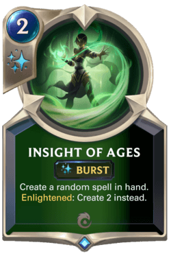 Insight of Ages Legends of Runeterra