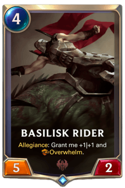 Basilisk Rider Legends of Runeterra