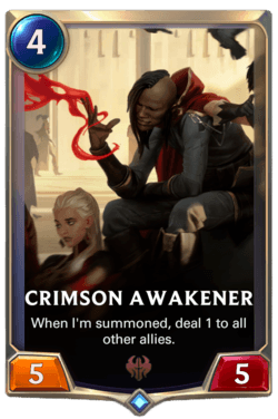 Crimson Awakener Legends of Runeterra