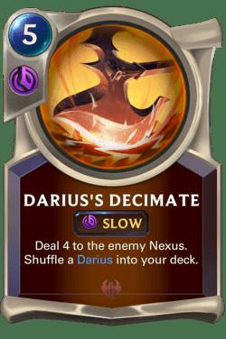 Darius's Decimate Legends of Runeterra
