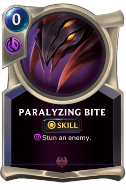 Paralyzing Bite Legends of Runeterra