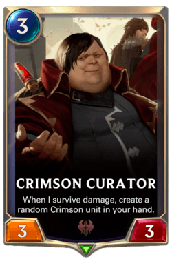 Crimson Curator Legends of Runeterra
