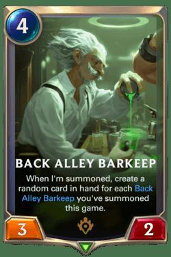 Back Alley Barkeep Legends of Runeterra
