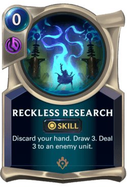 Reckless Research Legends of Runeterra