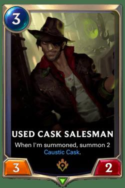 Used Cask Salesman Legends of Runeterra