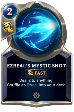 Ezreal's Mystic Shot Legends of Runeterra