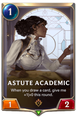 Astute Academic Legends of Runeterra
