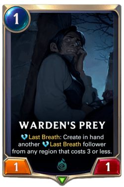 Warden's Prey Legends of Runeterra