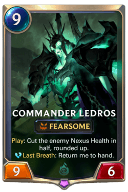 Commander Ledros Legends of Runeterra