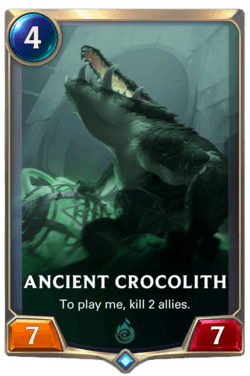 Ancient Crocolith Legends of Runeterra