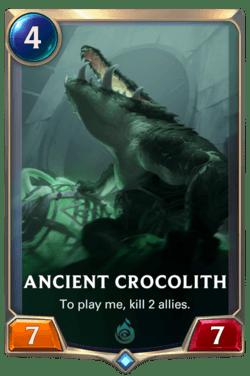 Ancient Crocolith Legends of Runeterra