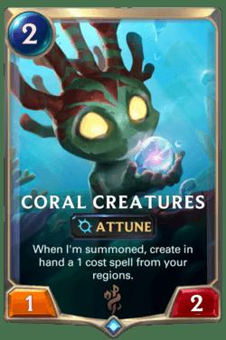 Coral Creatures Legends of Runeterra
