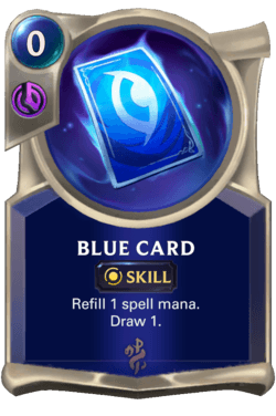 Blue Card Legends of Runeterra