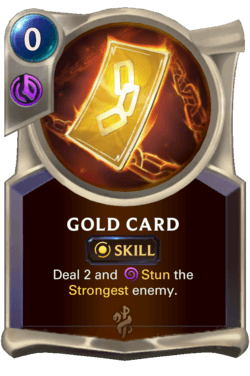 Gold Card Legends of Runeterra