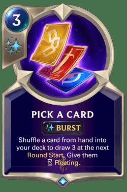 Pick a Card Legends of Runeterra