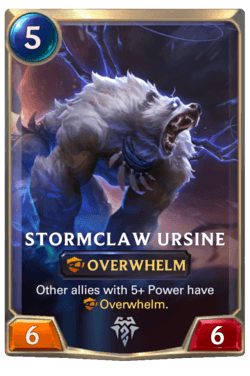 Stormclaw Ursine Legends of Runeterra