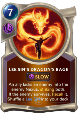 Lee Sin's Dragon's Rage Legends of Runeterra