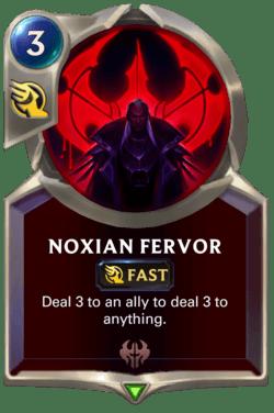 Noxian Fervor Legends of Runeterra