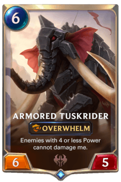 Armored Tuskrider Legends of Runeterra