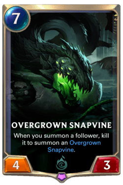 Overgrown Snapvine 2 Legends of Runeterra