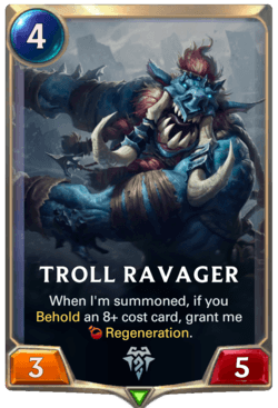 Troll Ravager Legends of Runeterra