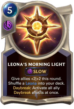 Leona's Morning Light Legends of Runeterra