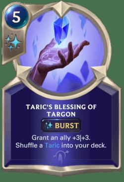 Taric's Blessing of Targon Legends of Runeterra