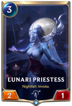 Lunari Priestess Legends of Runeterra