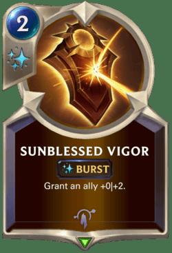 Sunblessed Vigor Legends of Runeterra